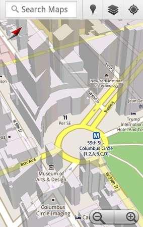 google maps moblie 5 cache offline 3d rotate tilt