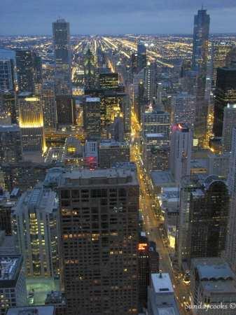 360 Chicago (antido John Hancock Observatory) - vista do alto 3 Luzes da cidade