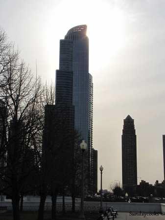 Outras atrações em Chicago - sol entre nuvens