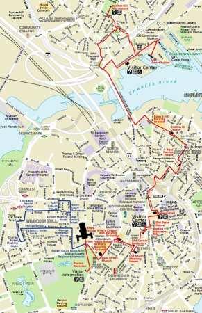 Boston Freedom Trail Mapa