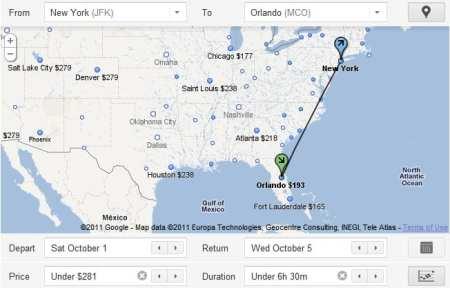 Google Flight Search - veja as rotas