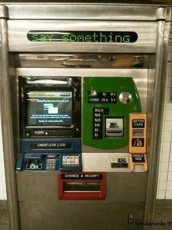 Metrô de Nova York - Máquina de venda de passes