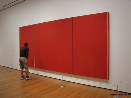 Museus em Nova York - MoMA - quadro laranja