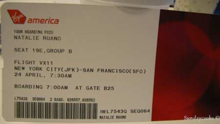 Como é voar de Virgin America - Ticket
