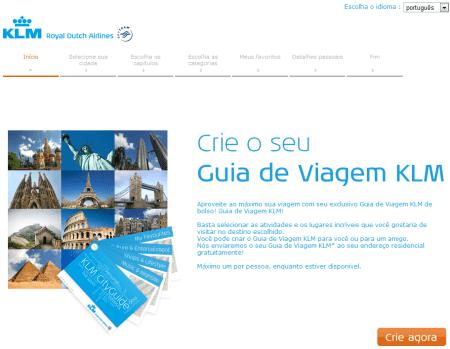 Guia de viagem KLM - site