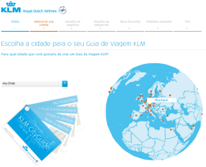 Guia de viagem KLM - Passo 1