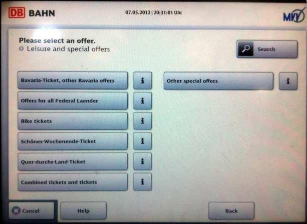 Como comprar o Bayern Ticket - Bavaria-Ticket, other Bavaria offers