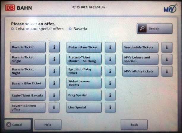 Como comprar o Bayern Ticket - Bavaria-Ticket