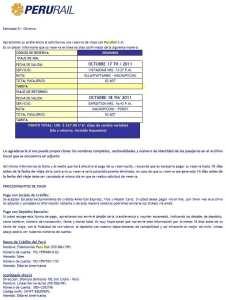 Como ir para Machu Picchu - Email recebido da Peru Rail