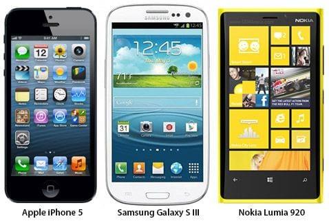 Vale a pena comprar o iPhone 5 - concorrentes: Samsung Galaxy S3 e Nokia Lumia 920