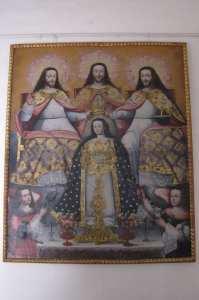 Boleto religioso de Cusco - sincretismo na pintura