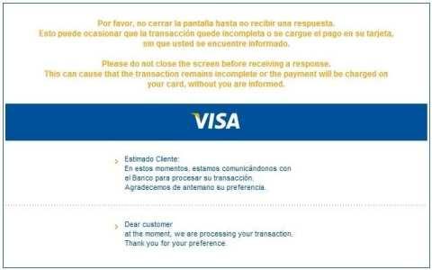 Ingressos para Machu Picchu Verified by Visa - Não feche essa janela