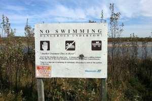 CanoeSki - Quando cheio, o rio pode ter correntezas mais fortes
