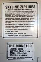 Monster Zipline - detalhes: hora de ter medo