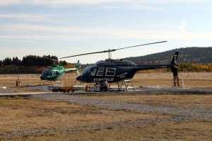 Heli Yoga - preparação dos helicópteros