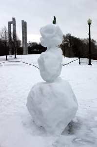 Montreal no Inverno - Boneco de Neve