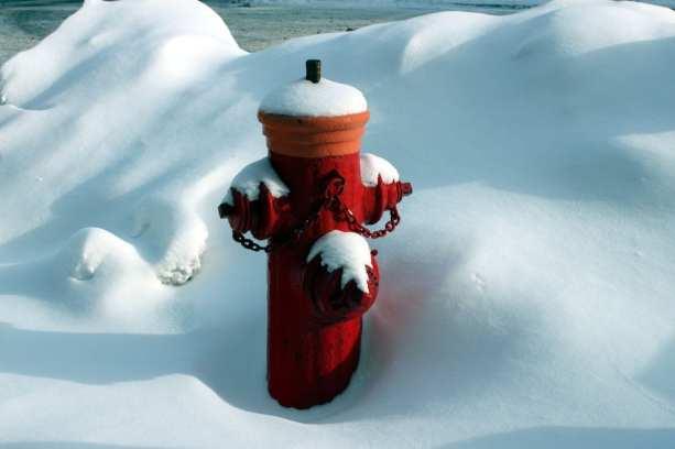 Montreal no Inverno - picolé de hidrante