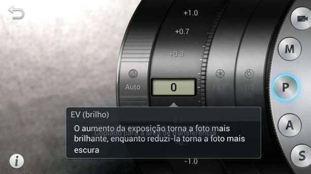 Samsung Galaxy Camera - Modo Avançado