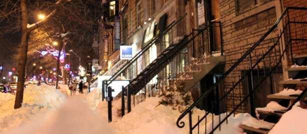 Mercados em Montreal - Um pouco de neve