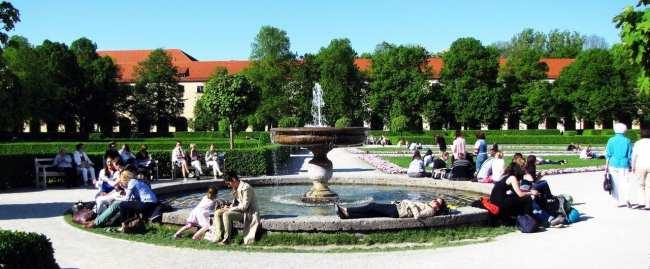 Clima na Alemanha - As fontes dos parques ficam cheias