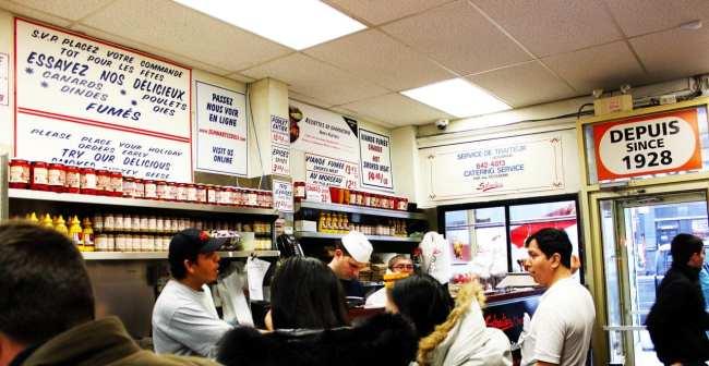 Comer bem em Montreal - Schwartz's - loja