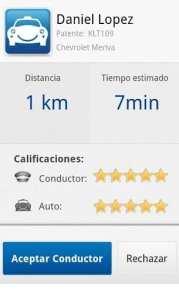 Apps de Táxi - Safer Taxi - informação do taxista