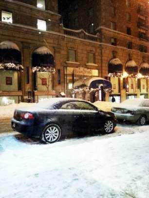 Comer bem em Montreal - Ferreira Café - numa noite nevada