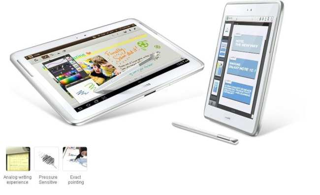 Samsung Galaxy Note 10.1 - exemplos S Pen