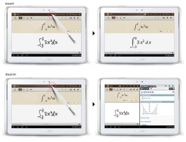 Samsung Galaxy Note 10.1 - S Pen correção de fórmulas