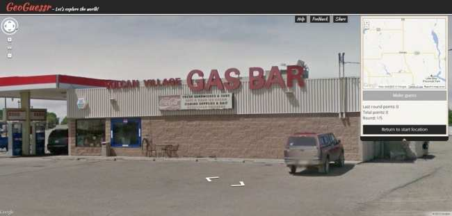 GeoGuessr - Vulcan Gas Bar
