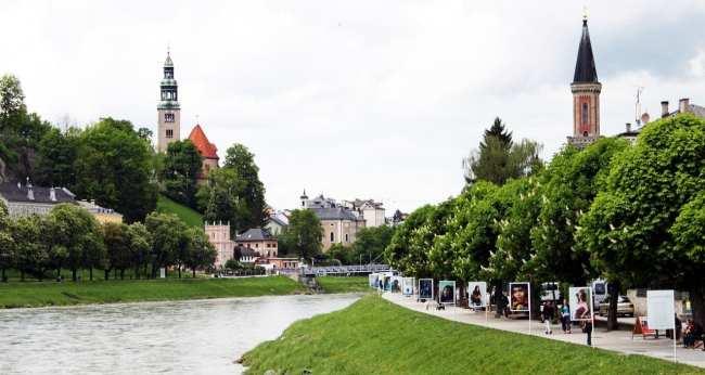 Roteiro de Salzburg - vista do rio