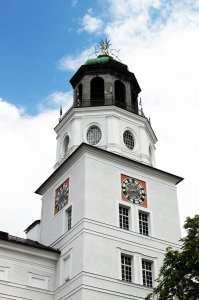 Roteiro de Salzburg - relógio na torre