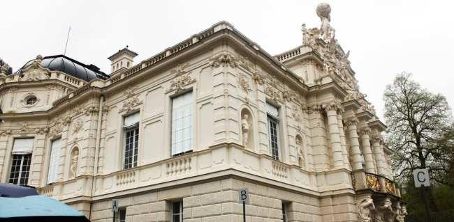 Castelos da Alemanha - Lateral do palácio de Linderhof