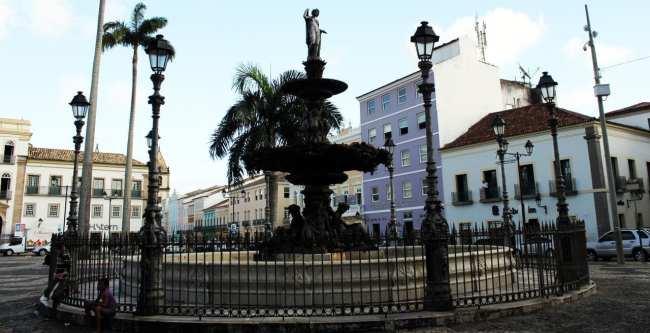 Fim de semana em Salvador - praça próxima ao Pelourinho