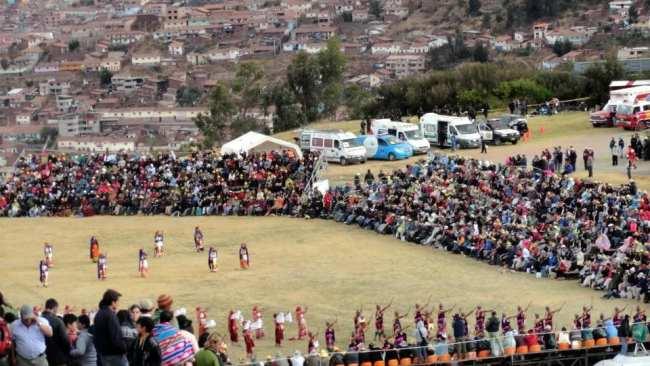 Inti Raymi - Visão das arquibancadas e da apresentação