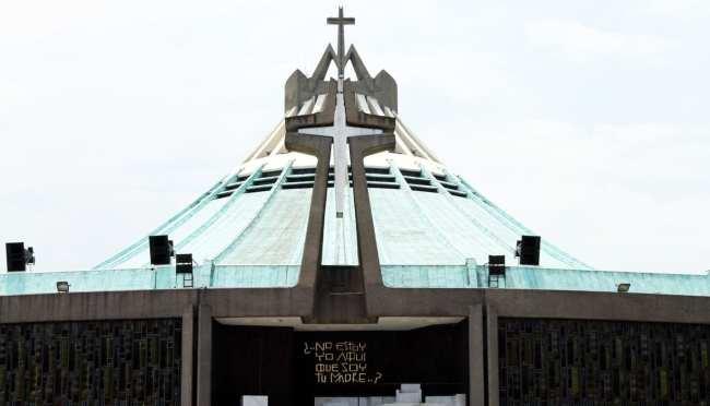 Basílica de Guadalupe - parte da frente