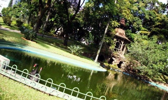 Fim de semana em Belo Horizonte - Praça da Liberdade - Jardins do Palácio da Liberdade