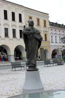 Novy Jicín - Estátua da praça central