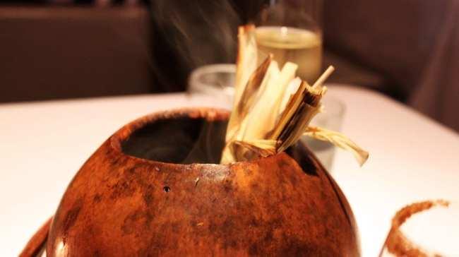 Restaurantes na Cidade do México - Pujol: Milho cozido com tempero de formigas trituradas