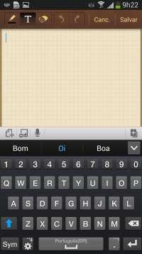 Samsung Galaxy S4 - teclado