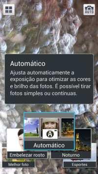 Samsung Galaxy S4 - opções de filtros