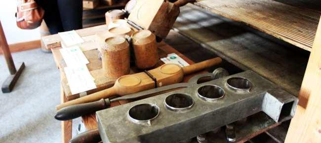 Queijo de Olomouc - Máquinas para preparar o queijo