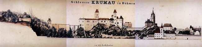 Cesky Krumlov UNESCO - Castelo no século XV