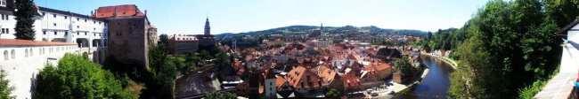 Cesky Krumlov UNESCO - Panorâmica do alto do castelo