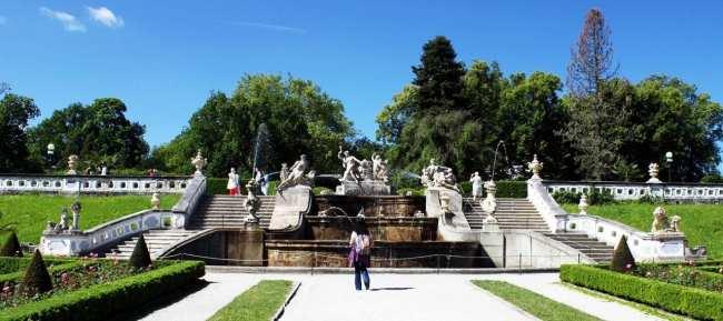 Cesky Krumlov UNESCO - Fones nos jardins do castelo