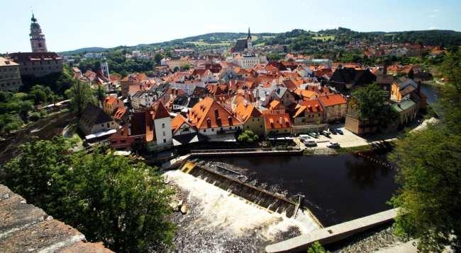 Cesky Krumlov UNESCO - Onde o rio faz a curva