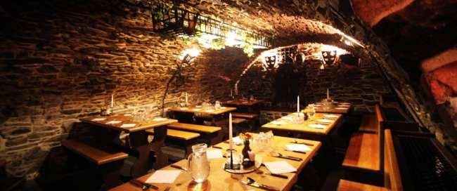 Cesky Krumlov UNESCO - Interior de um restaurante típico