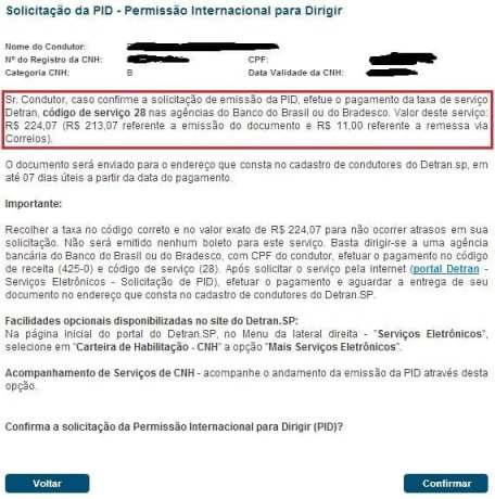 Como tirar a PID em São Paulo - detalhes de pagamento