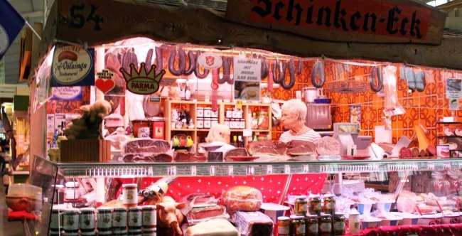 Mercados de Frankfurt - Kleinmarkthalle: Embutidos