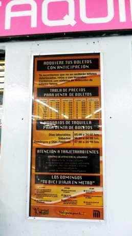 Como usar o metrô da Cidade do México - Preços